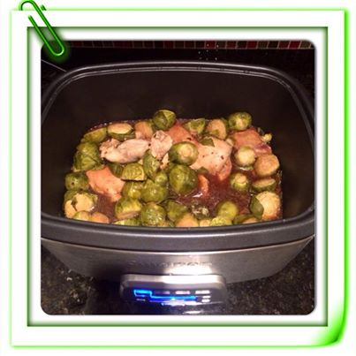 Crock Pot Ginger Soy Chicken With Brussel Sprouts