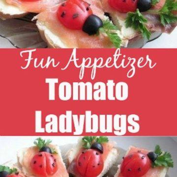 Tomato Ladybugs Fun Appetizer