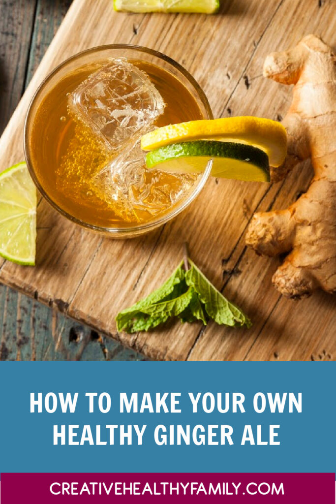 If you love ginger ale try making at home with real ingredients! This Homemade Ginger Ale recipe is super easy to make, delicious and healthy! Check it out!