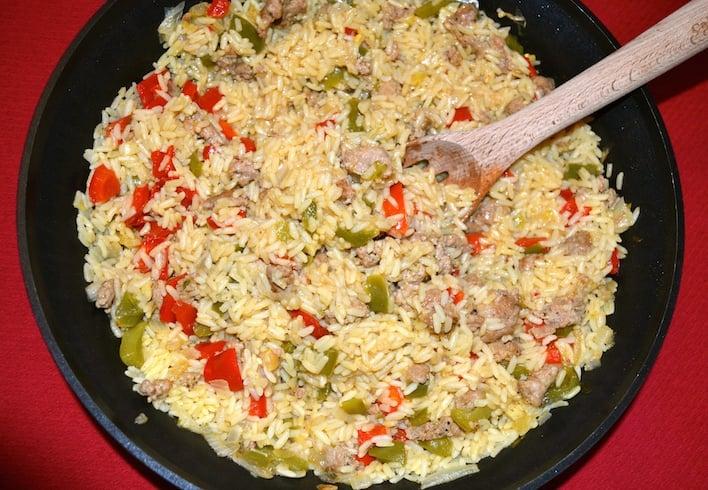 pork-sausage-homemade-style-paella