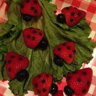 Strawberry Ladybugs (And Cool Tip To Remove Stems)