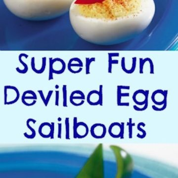 Super Fun Deviled Egg Sailboats