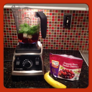 Cherry Banana Spinach Smoothie