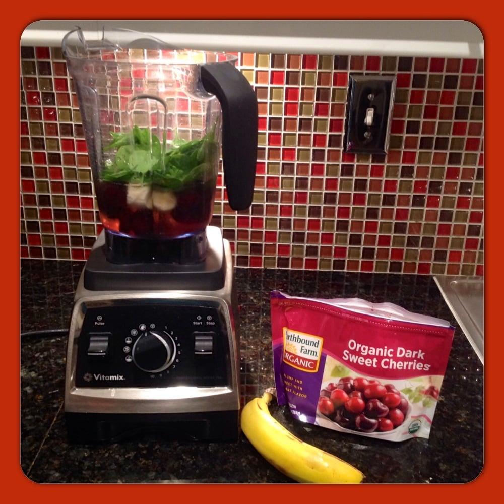 Cherry Banana Spinach Smoothie
