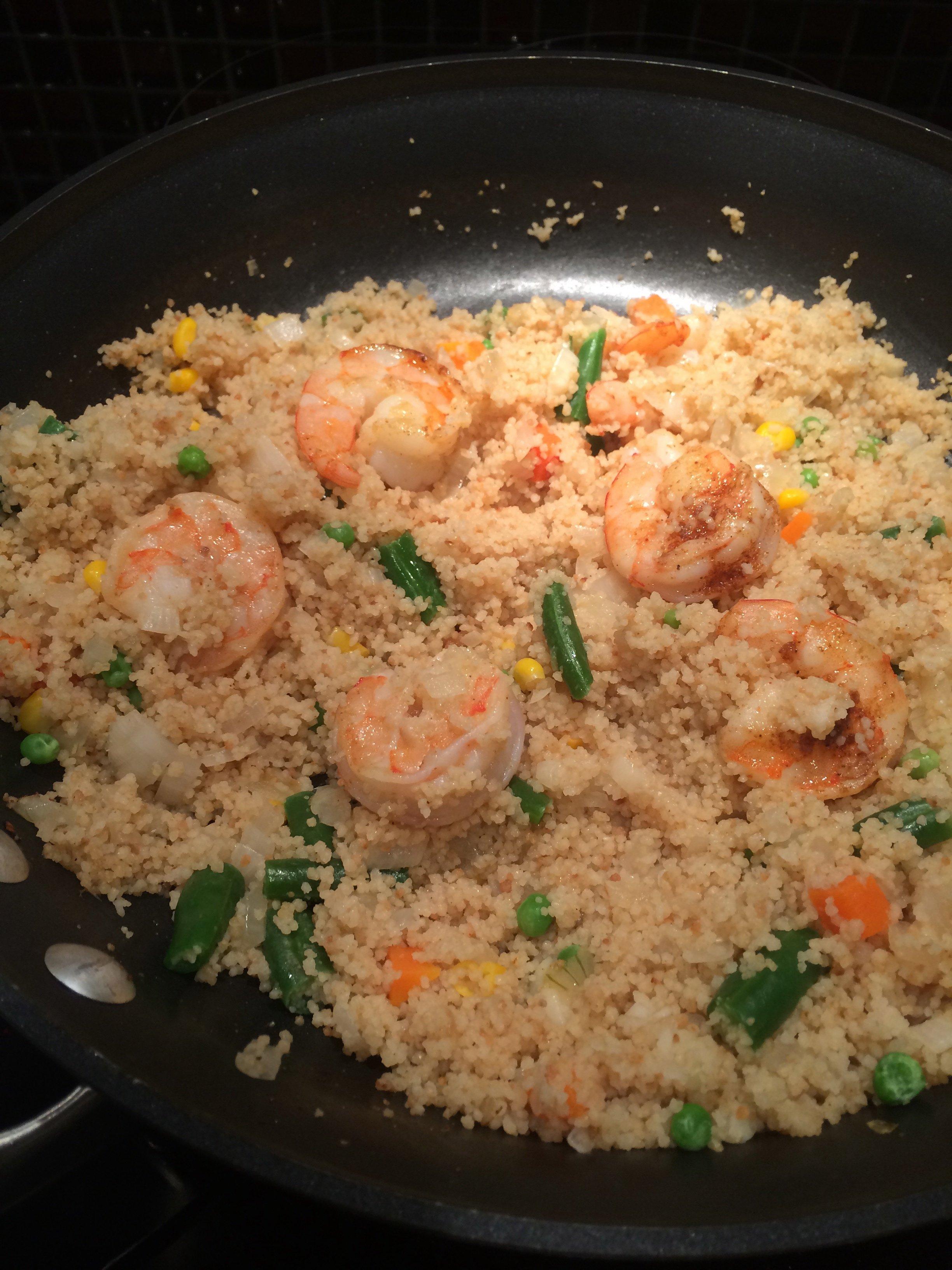 Shrimp And Vegetable Couscous Paella