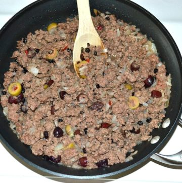 Traditional Style Ground Beef Picadillo