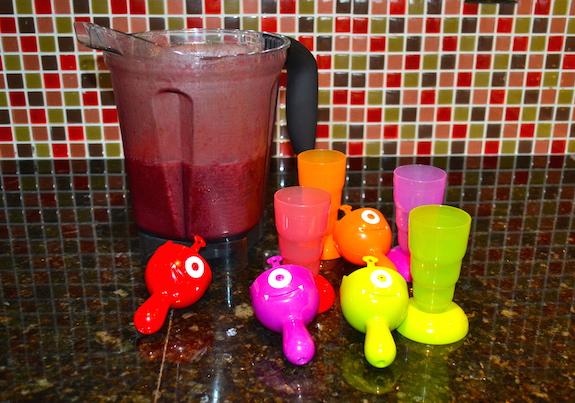 mixed berries ice pops