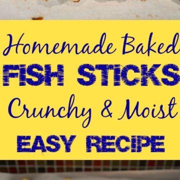 Homemade Baked Fish Sticks