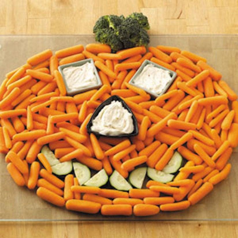 Halloween Fun Carrot Pumpkin
