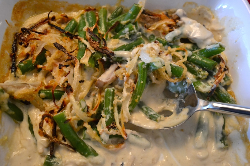 Green Bean Casserole With Homemade Ingredients