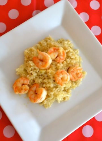 Cauliflower-Risotto-With-Grilled-Shrimp