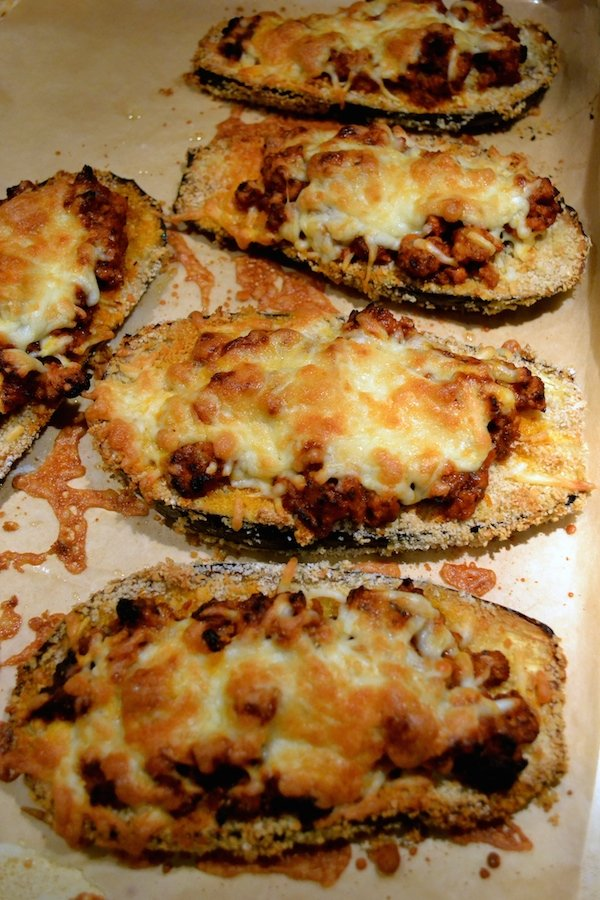 baked eggplant parmesan boats