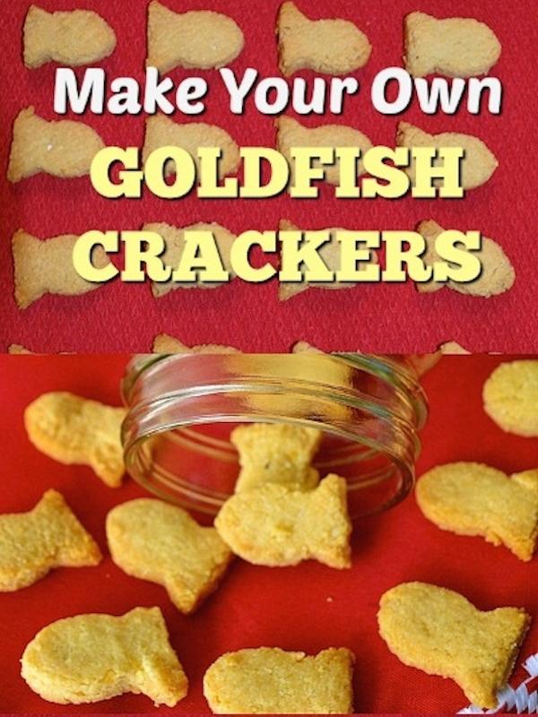 DIY 2 Ingredient Gluten Free Goldfish Crackers