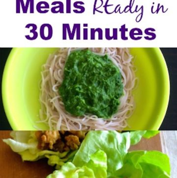 meals ready in 30 minutes