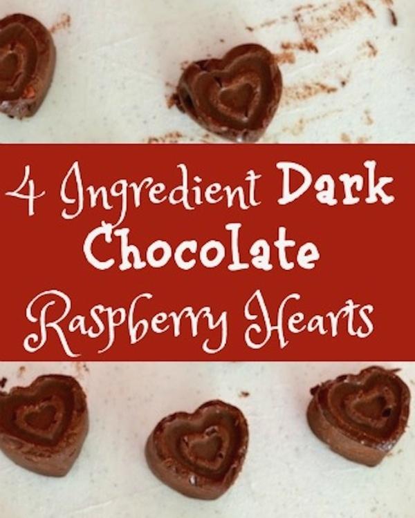 4 Ingredient Dark Chocolate Raspberry Hearts