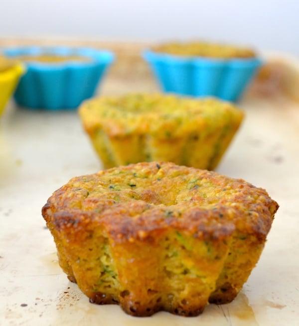 Carrot Zucchini Whole Grain Muffins