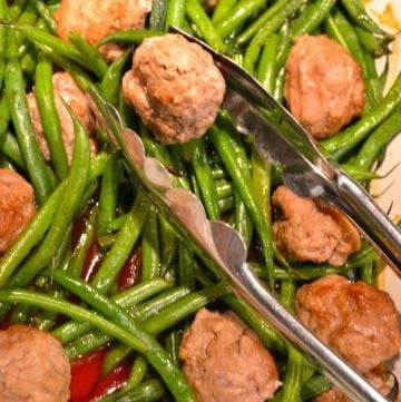 Asian Style Veal Meatballs With Green Beans
