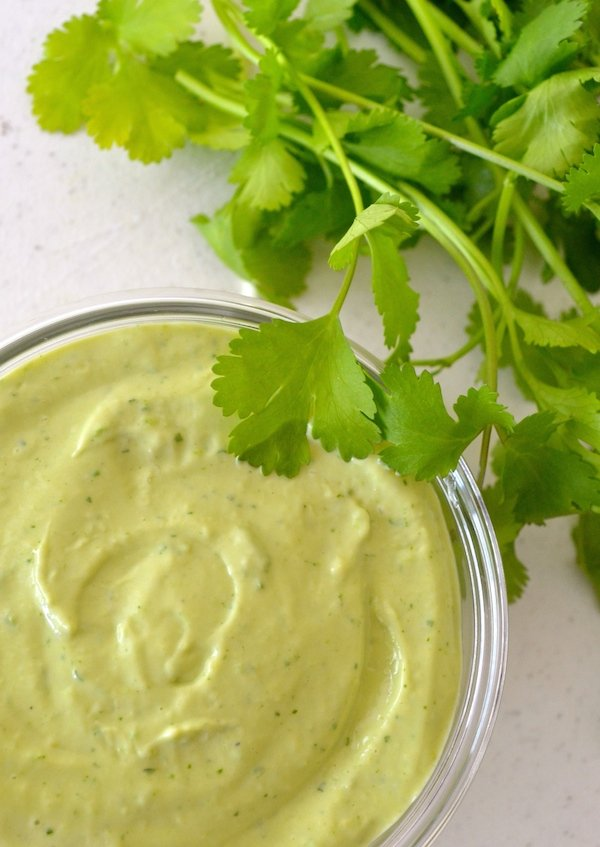 creamy avocado cilantro ranch