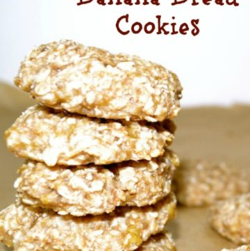 Easy 3 Ingredient Banana Bread Cookies