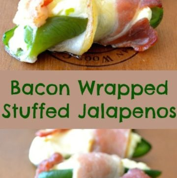 Bacon Wrapped Stuffed Jalapeños
