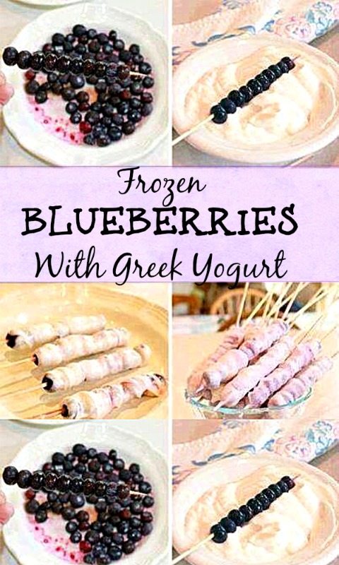 Frozen Blueberries With Greek Yogurt