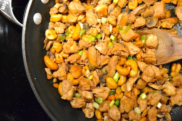 healthy homemade cashew chicken