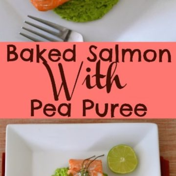 Baked Salmon With Pea Puree