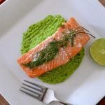 baked-salmon-with-pea-puree