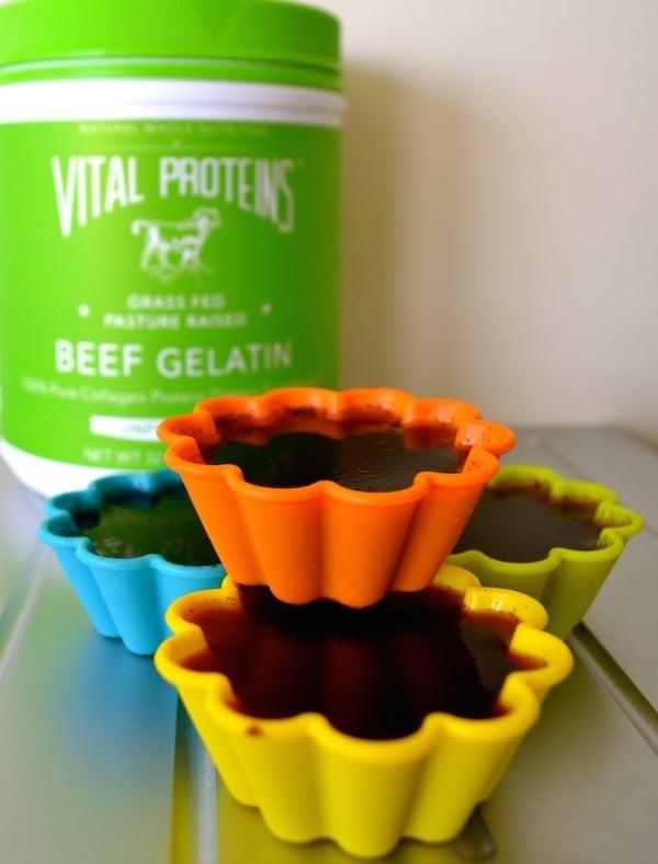 easy homemade nourishing blueberry gelatin