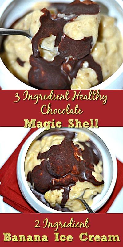 Banana Ice Cream With Healthy Chocolate Magic Shell