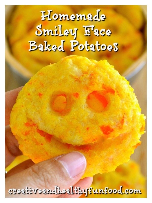 Homemade Smiley Face Baked Potatoes