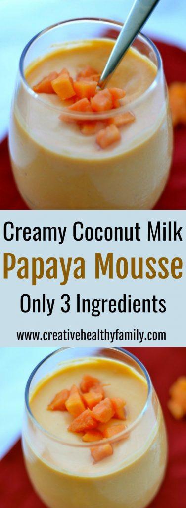 creamy coconut milk papaya mousse