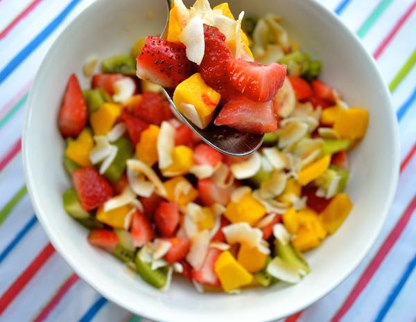 perfect rainbow summer fruit salad recipe