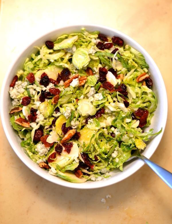 Amazing Shaved Brussels Sprout Salad