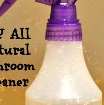 DIY All Natural Bathroom Cleaner