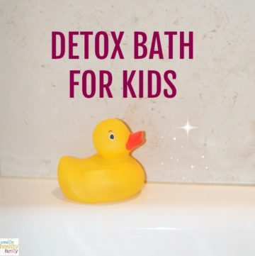 Kick Colds Fast With A Detox Bath For Kids