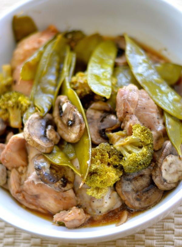 Crock Pot Honey Garlic Chicken And Veggie Stir Fry