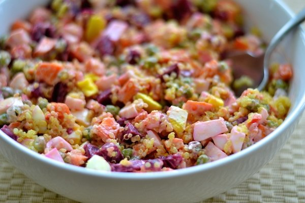 Colorful Russian Style Quinoa Protein Power Salad