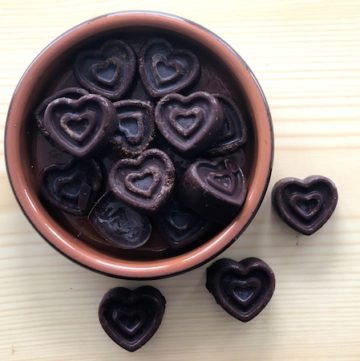 4 Ingredient Dark Chocolate Raspberry Hearts