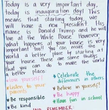 Awesome Teacher Writes Inspiring Letter To Students On Inauguration Day