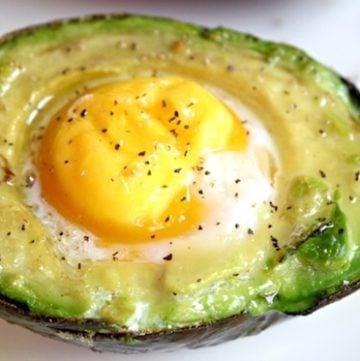 Breakfast Baked Avocado Eggs Recipe