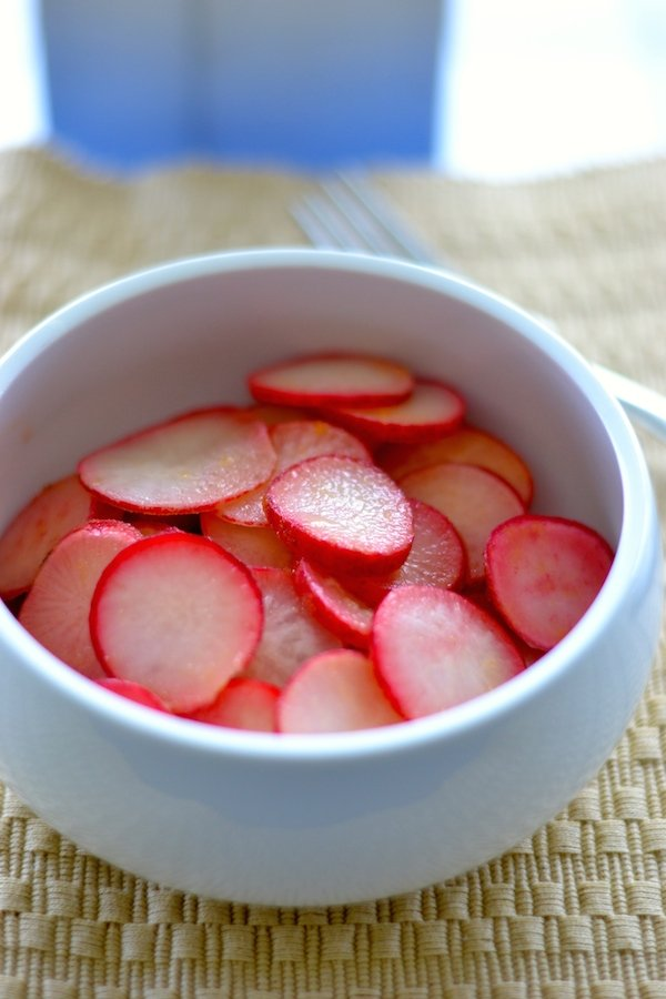 Sweet And Sour Pickled Radishes
