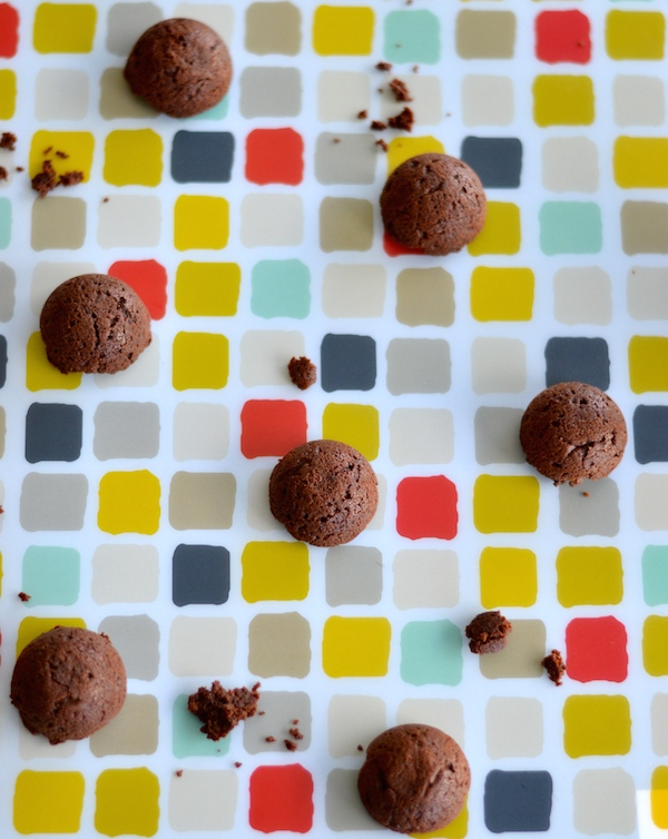 15 Minute Healthy Nutella Little Chocolate Cake Bites