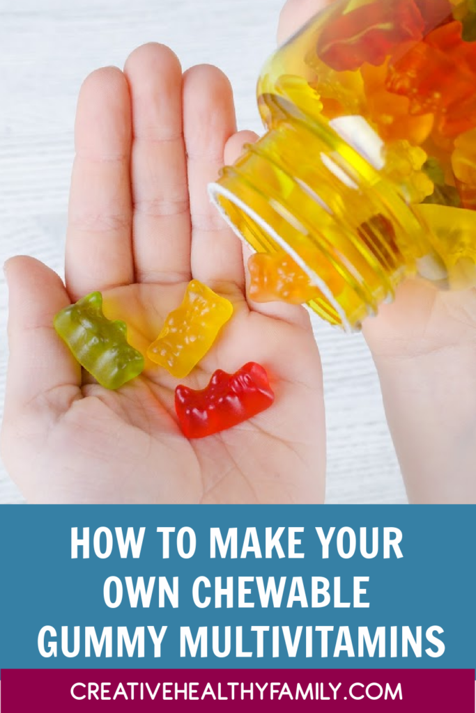 This is probably my favorite creative and healthy fun food idea. Let me show you How To Make Your Own Chewable Gummy Multivitamins. It is easy, healthy and fun! Made with real fruit and veggies and supplements!