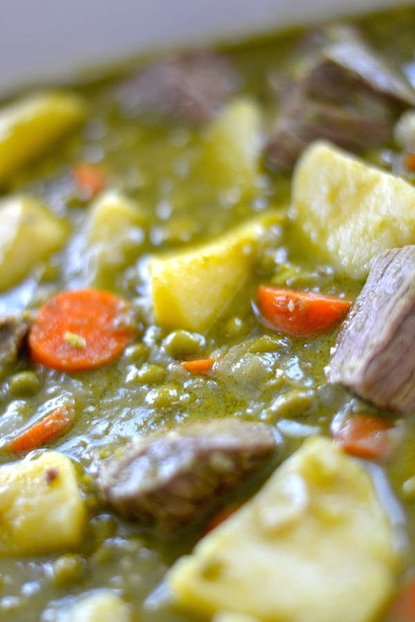 Flavorful Peruvian Inspired Cilantro Beef Stew