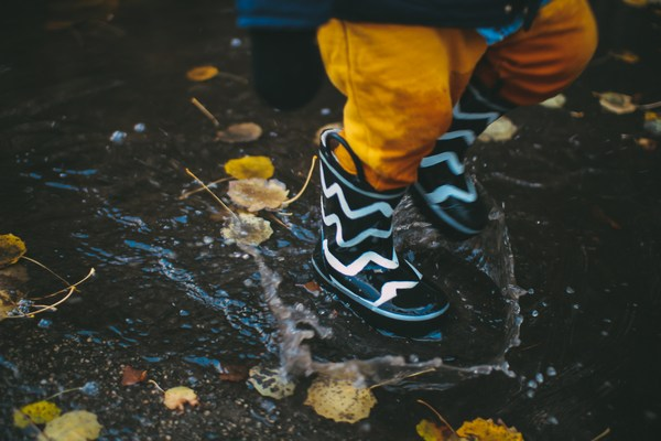 Let kids stomp in puddles but leave the germs outside when they're done.