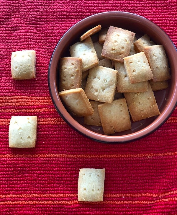 gluten free parmesan cheese crackers
