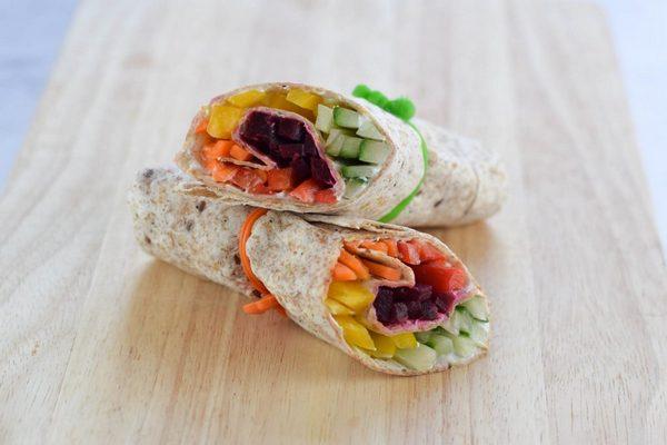 Crunchy Veggie Rainbow Wrap