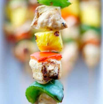 Grilled Hawaiian Chicken Kebabs