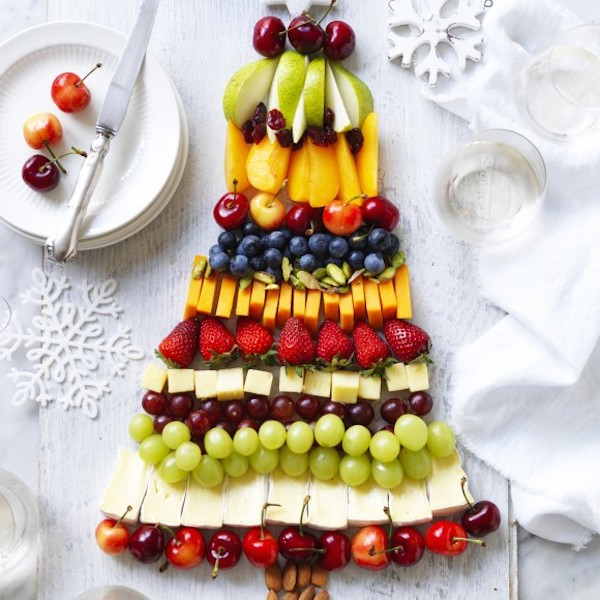 christmas food fruit and cheese platter